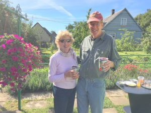 Anne and John with cherries